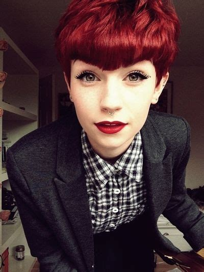 short hairstyles dyed red pinterest the world s catalog of ideas