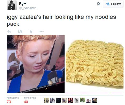 Iggy Azalea Meme - iggy azalea twitter fight with papa john s grammy hair