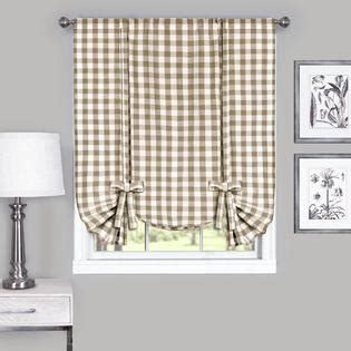Tie Up Window Curtains Achim Buffalo Check Window Curtain Tie Up Shade