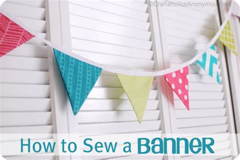 How To Make Paper Bunting - how to sew a bunting