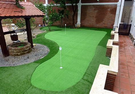 artificial backyard putting green artificial putting green project in vietnam