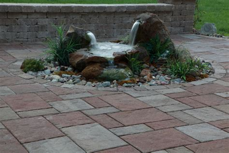 water feature patio modern patio outdoor
