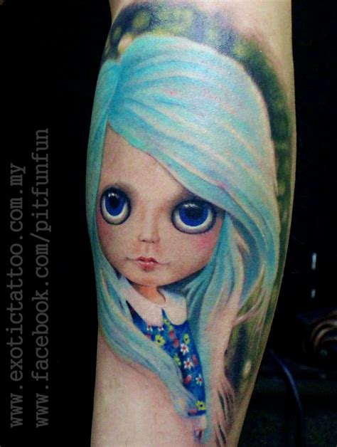 tattooed dolls instagram blythe doll tattoo thanks to ben all the way from johore