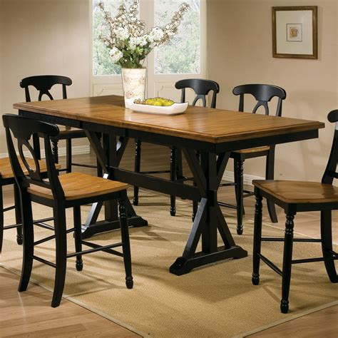 Square Dining Room Table With Leaf by Winners Only Dqt13678 Quails Run Counter Height Trestle