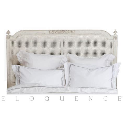 french style cane headboards eloquence 174 blanka cane king headboard in antique white