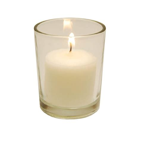 lumabase 72 count 10 hour votive candles and 12 clear
