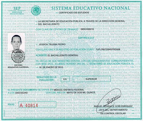 certificado de preparatoria certificado de preparatoria formato de certificado de prepa falso mexico 1 15 de