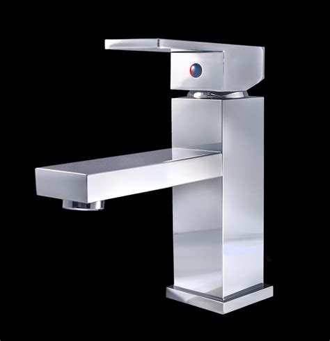 Modern Bathroom Faucet Rezzonico Chrome Finish Modern Bathroom Faucet