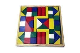 Wooden Blocks Balok Kayu Warna Mix wooden building blocks littletumee