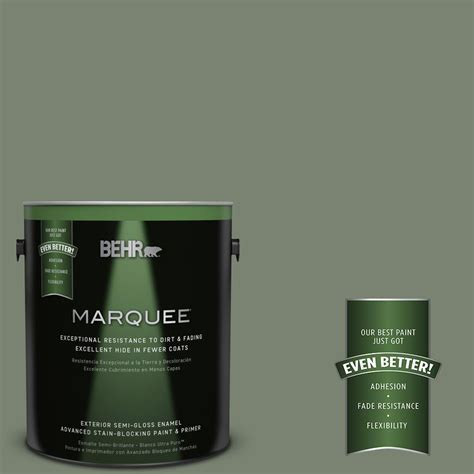 home depot behr marquee paint colors behr marquee 1 gal icc 77 green semi gloss enamel