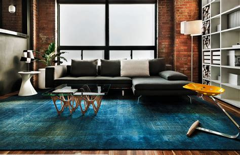 Blue Living Room Rugs | 10 rooms with overdyed rugs