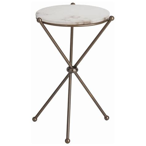 mini accent table l small round accent table chloe brass and white accent
