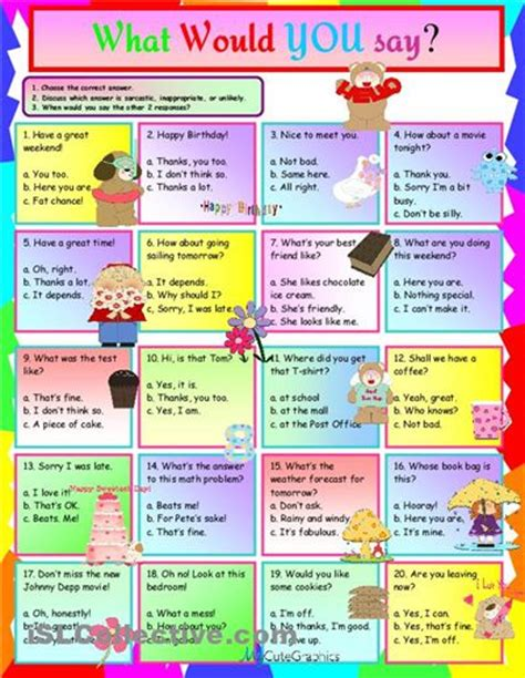 how to say worksheet in what would you say worksheet islcollective free esl worksheets esl