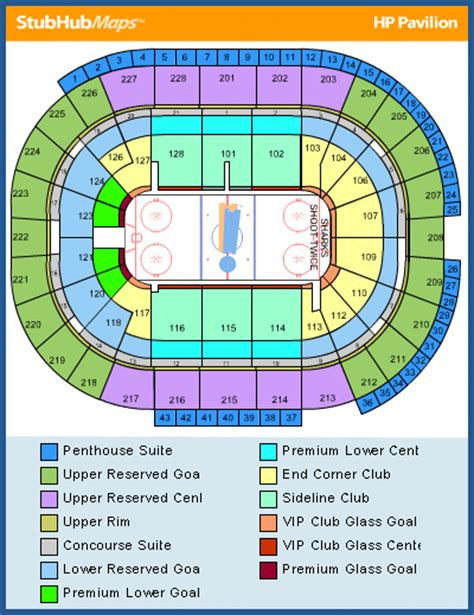 sharks san jose map sap center seating chart pictures directions and
