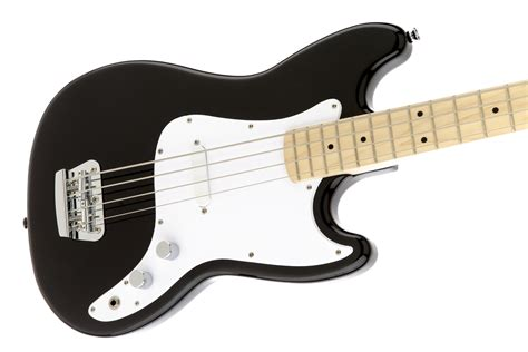Bass Black squier 174 bronco bass maple fingerboard black squier bass guitars