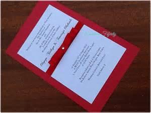 Red And White Wedding Invitations Classic Elegance Wedding Invitation