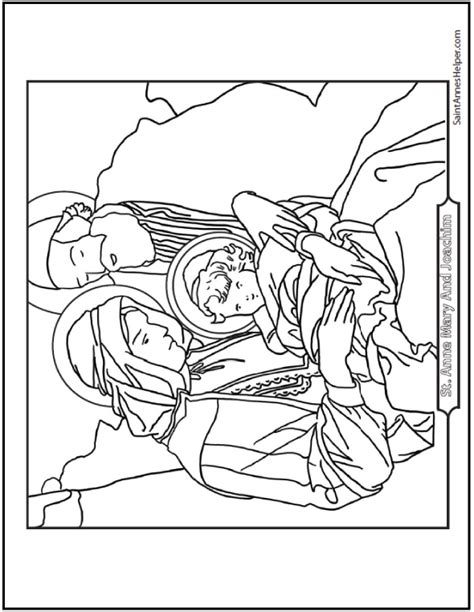 printable xmas sts saints joachim and anne coloring page