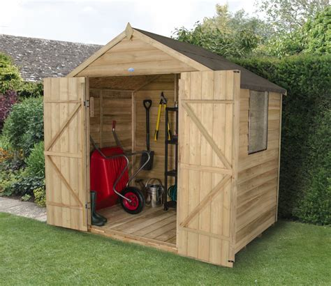 7 X 5 Garden Sheds by 7 X 5 Overlap Pressure Treated Apex Shed With Doors