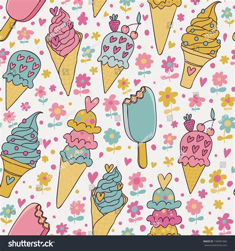 cute ice cream pattern tasty seamless pattern made of cute ice cream in pastel