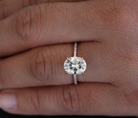 Wedding Bands For Oval Engagement Ring by Oval Gold Engagement Rings Wedding Promise