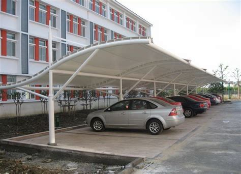 image result for parking roof design in single floor tensile membrane roof structure car parking awnings