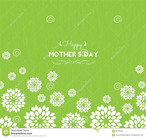 mother day greeting card design happy mother day greeting card with flowers stock vector