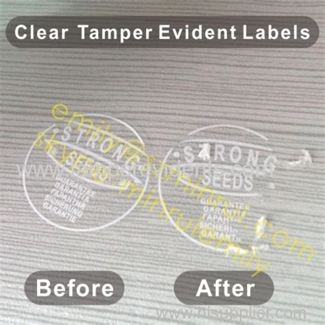 printable void labels custom clear ter evident labels with white print