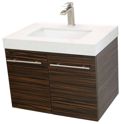 modern floating bathroom vanities windbay 24 quot floating vanity sink set modern bathroom
