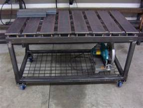 welding table plans diy welding table and cart ideas