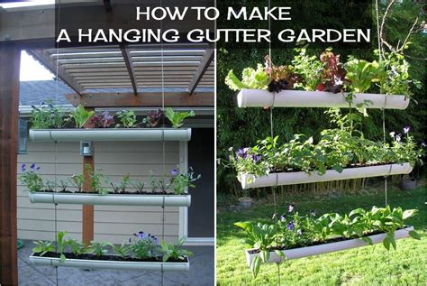 how to make a hanging gutter garden diy projects usefuldiy com