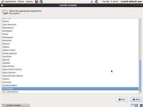 centos us keyboard layout centos 6 5 desktop installation guide with screenshots