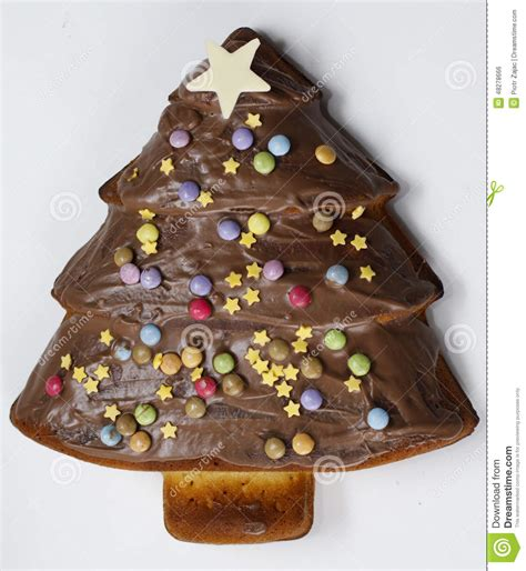 christmas tree shaped cake stock photo image of food