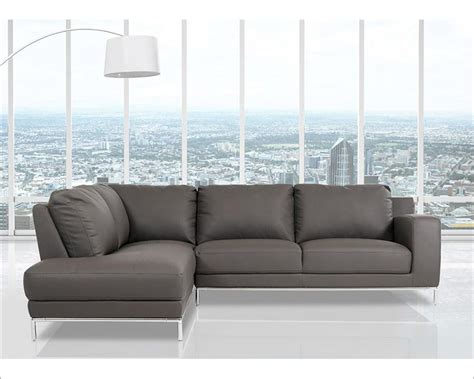 eco leather sectional sofa in modern style 44l5994