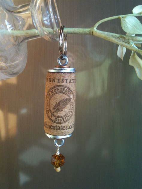wine cork keychains craft ideas pinterest things to