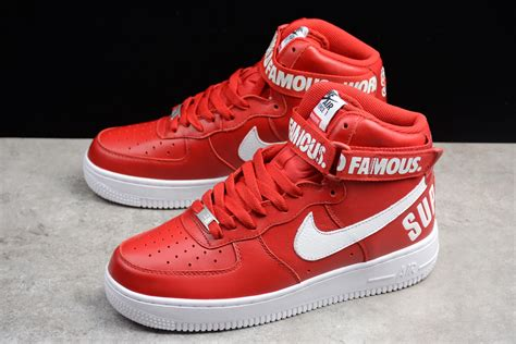 Supreme Nike Air 1 by Supreme X Nike Air 1 High Red For Sale New