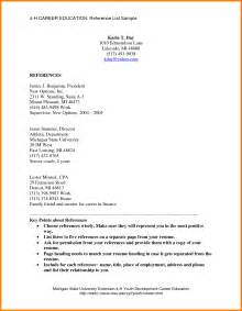 Resume Exles With References Listed 9 List Of Reference Cna Resumed