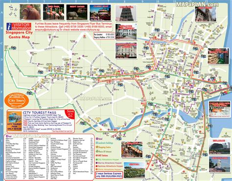 top attractions map hop on hop funvee city tours landmarks routes