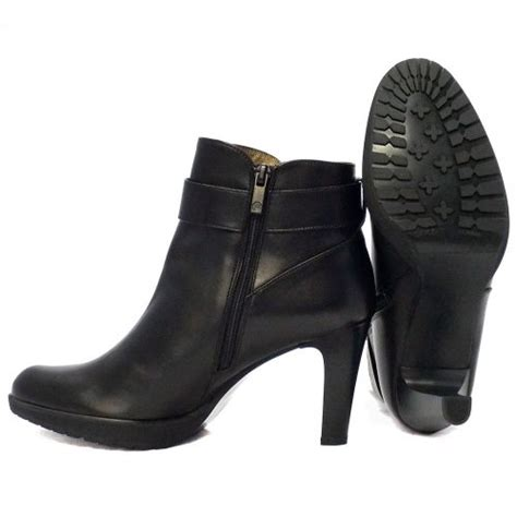 black leather ankle boots with heel kaiser elta black leather stiletto heel ankle boots
