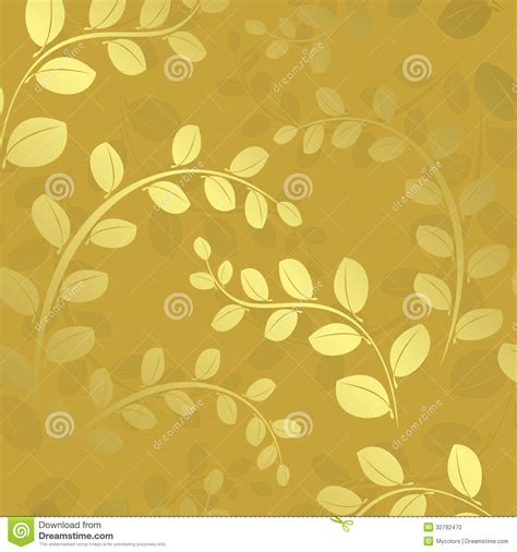 pattern gold gradient floral pattern with gradient gold background stock