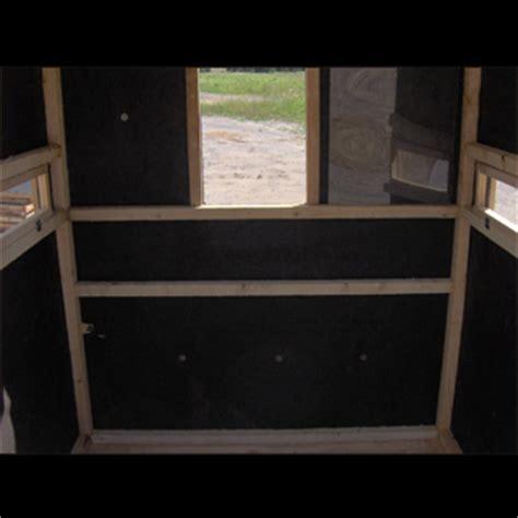 bow blind windows bow rifle box blinds productive cedar products