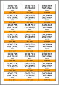 Complimentary Drink Ticket Template by Drink Ticket Template Excel Templates Free
