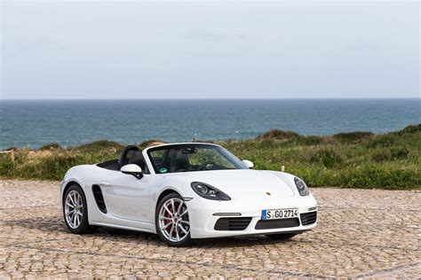 porsche boxster 2017 2017 porsche 718 boxster fully revealed with turbo flat
