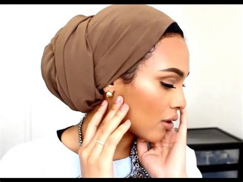 low hair on head turban tutorial low bun as requested youtube