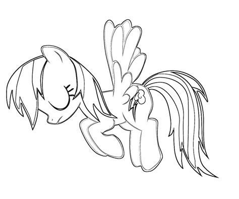 Free Coloring Pages Of Rainbow Dash Rainbow Dash Coloring Page