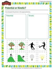 potential or kinetic worksheet middle science