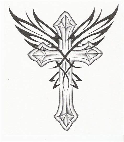 tattoo designs cross with wings 17 best ideas about tribal cross tattoos on