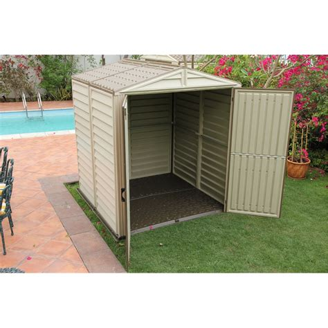 6 x 6 select duramax plastic pvc shed with steel frame