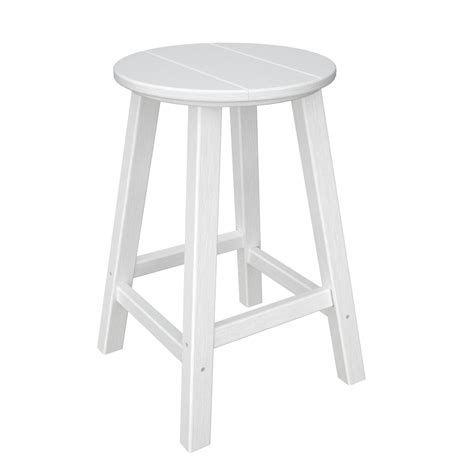 traditional counter height bar stool by polywood polywood 174 traditional round outdoor counter height stool