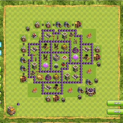 coc town hall 7 formasi base coc clash of clans terbaik th 1 10