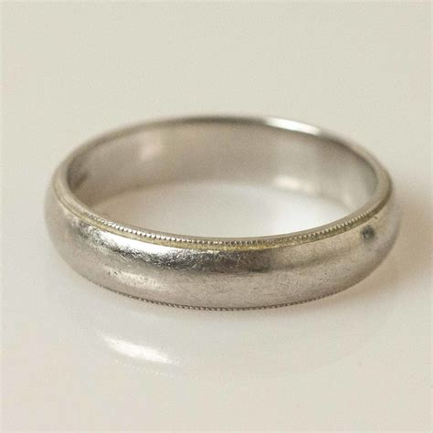 tiffany  mens platinum wedding band witherells